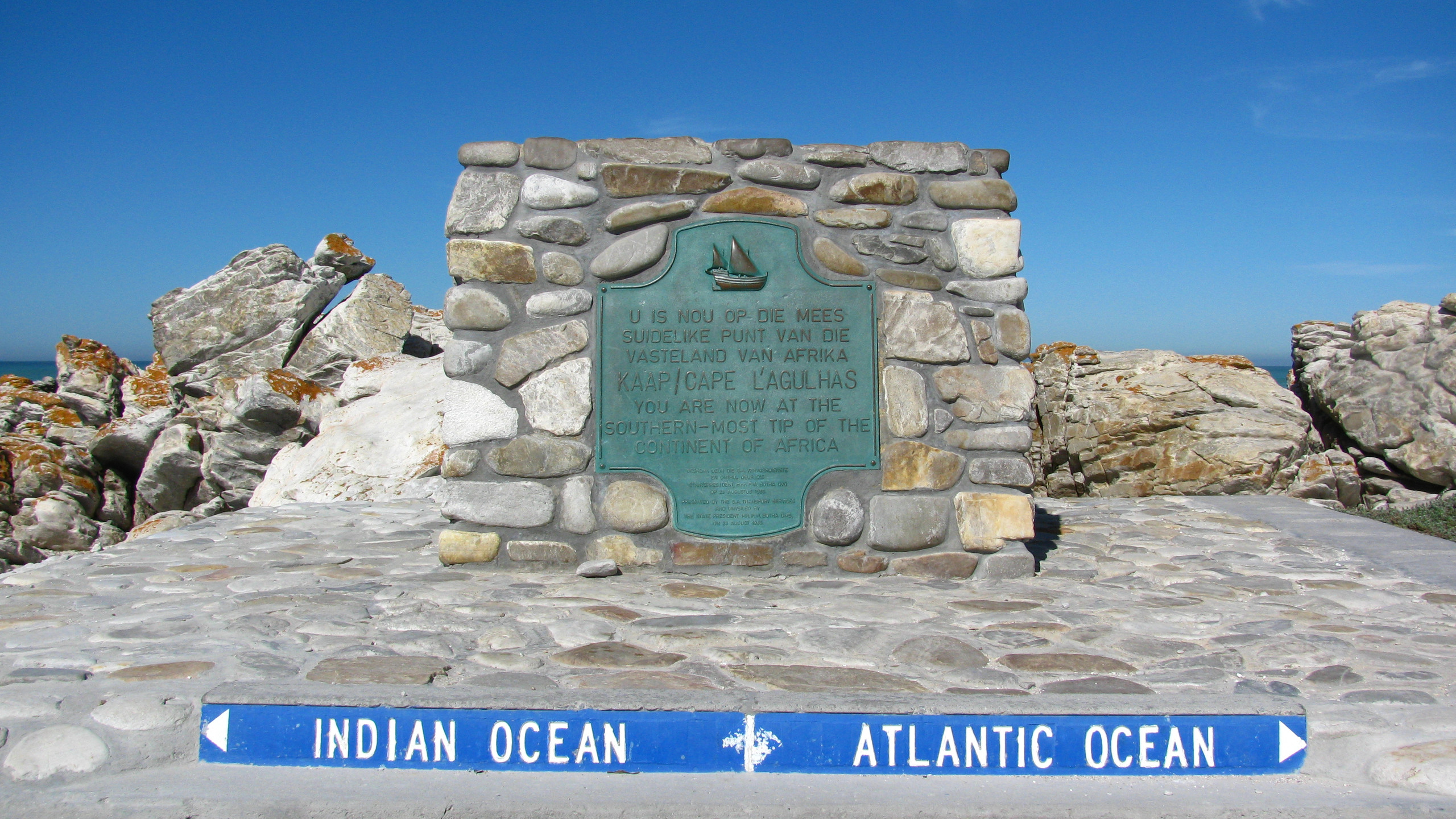 Cape Agulhas -where 2 oceans meet