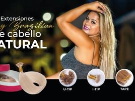 Extensiones de cabello natural Remy Brazilian