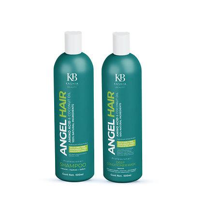 Amino acid&Coconut oil Angel Hair shampoo and conditioner 500ml by Kashia Beauty