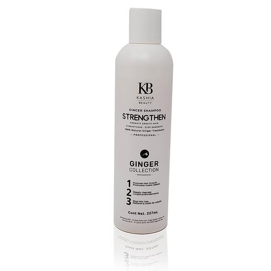 Ginger Shampoo Strengthen 237ml by Kashia Beauty