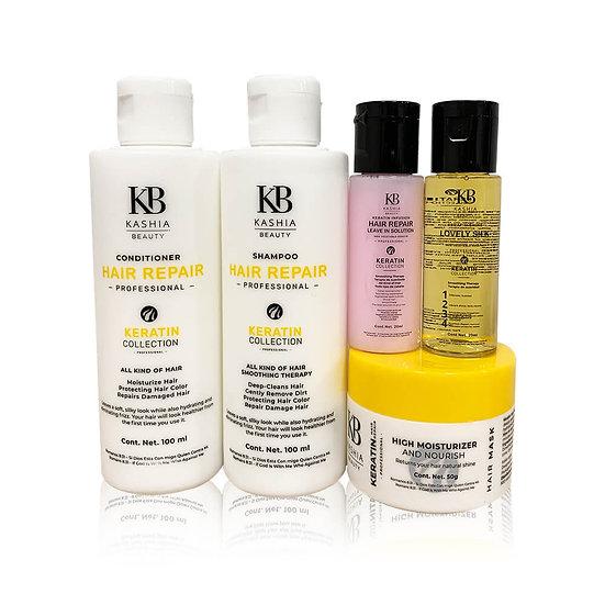 Super Hair Care Treatment Keratin Travel kit Set 5pc. of KashiaBeauty