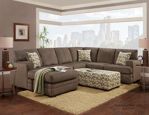 HILLEL SECTIONAL GRAY