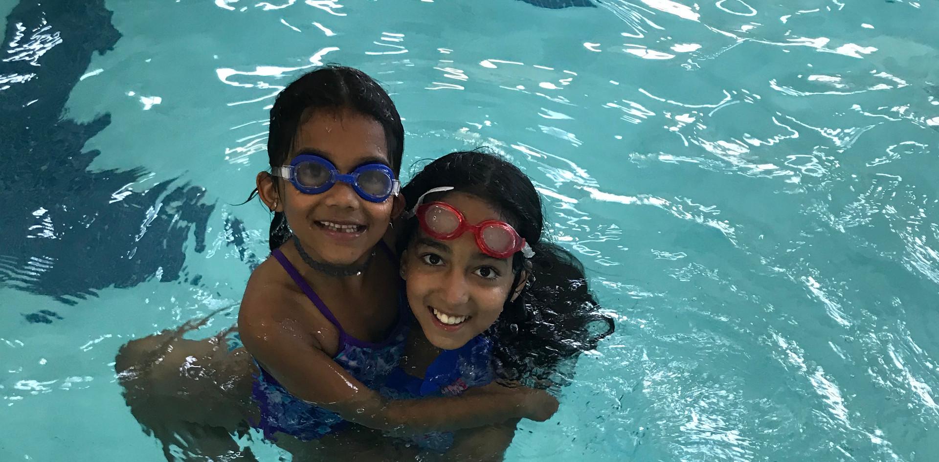 Pool fun with friends