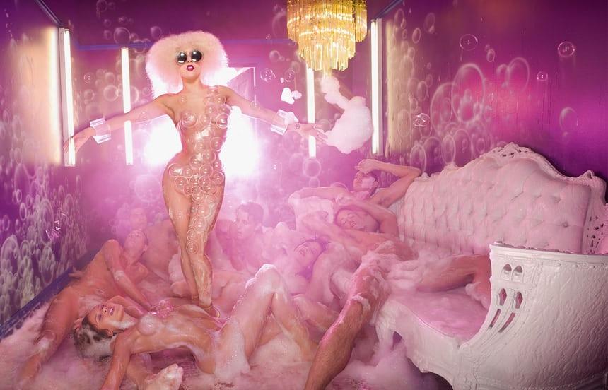 Lady Gaga Bursting Bubbles, 2009 Photo copyright David LaChapelle Studio