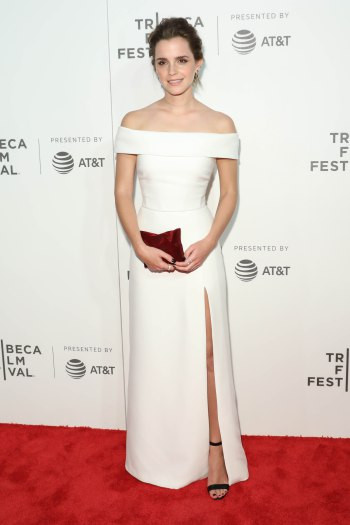 "Emma Watson at the Tribeca Film Festival premiere of ""The Circle."""