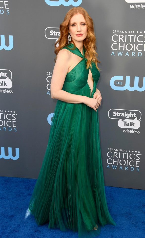 Jessica Chastain Critics Choice 2018
