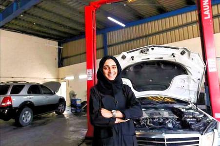 Trailblazer Huda Al-Matroushi Becomes First Female to Own Car Repair Shop in UAE