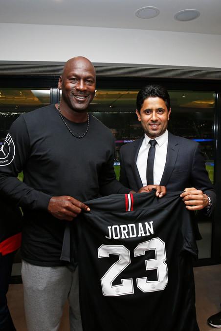 Michael Jordan visits Paris Saint-Germain in Paris