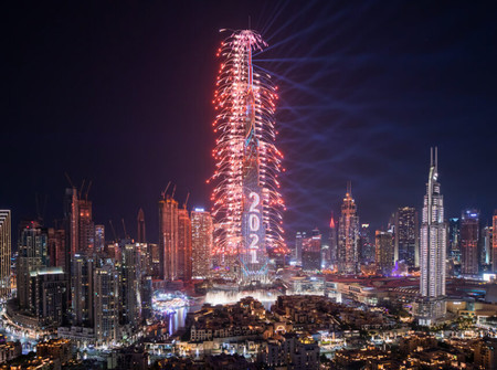 Burj Khalifa and Downtown Dubai Bring in 2021 with a Spectacular New Year's Eve Celebration