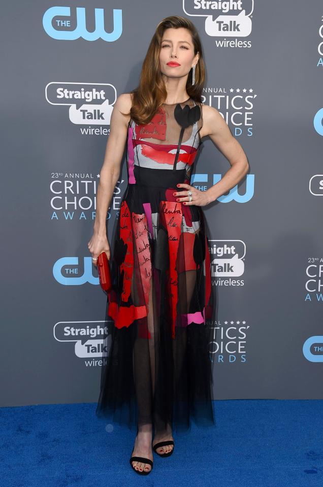 Jessica Biel Critic Choice Awards 2018