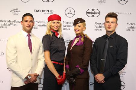Etihad Airways and AirBerlin at Mercedes Benz Fashion Week Berlin