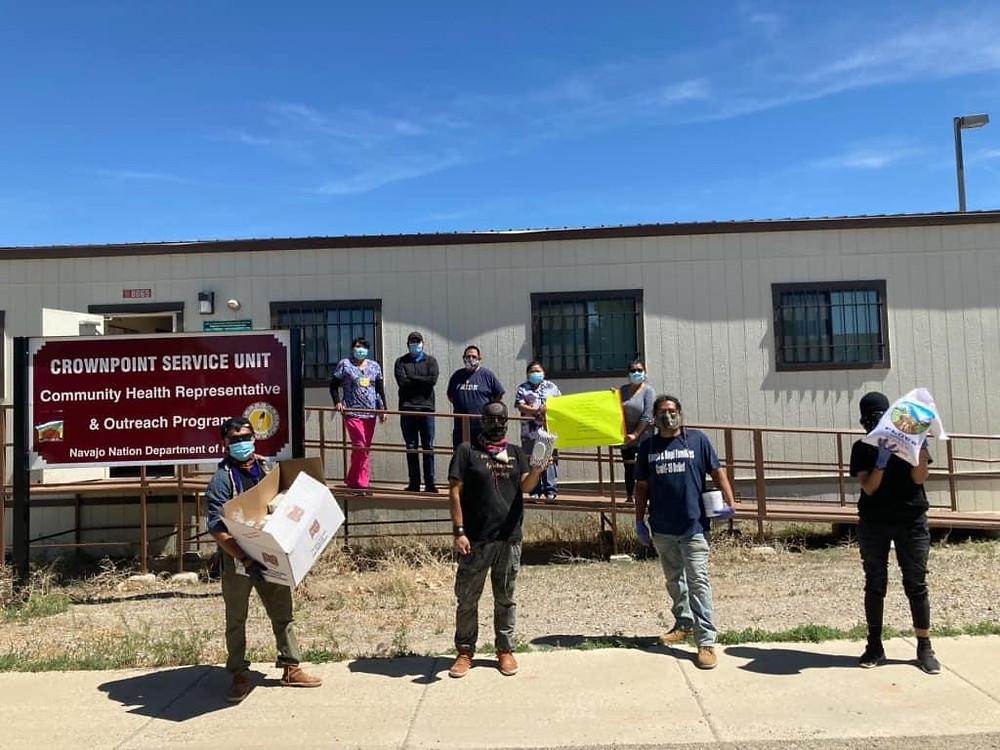 Deliveries to Red Mesa and Crownpoint communities by Northern Agency Team Lead Kim Smith, Victor Puertas, Makai Lewis and volunteer team