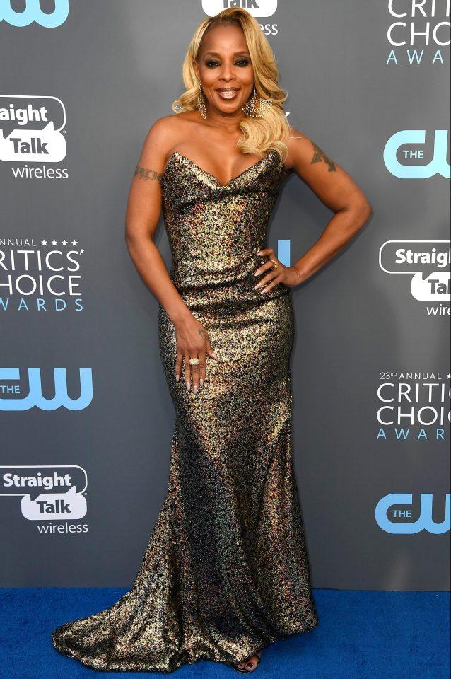 Mary J Blige Critics Choice 2018