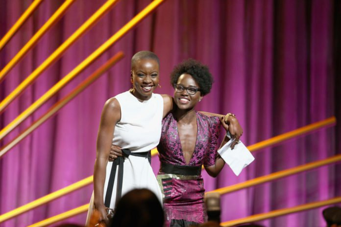 Danai Gurira and Lupita Nyong'o at Essence Black Women in Hollywood Luncheon