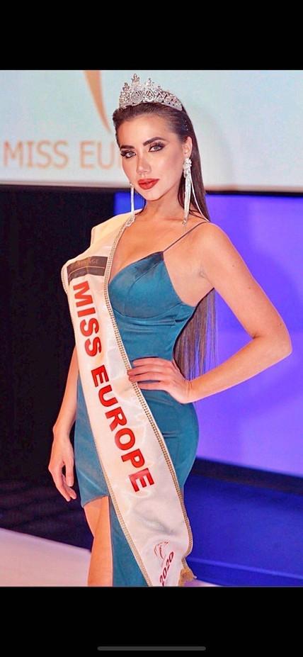 """Ljubica Rajkovic Crowned """"Miss Europe 2020"""" In Vienna"""