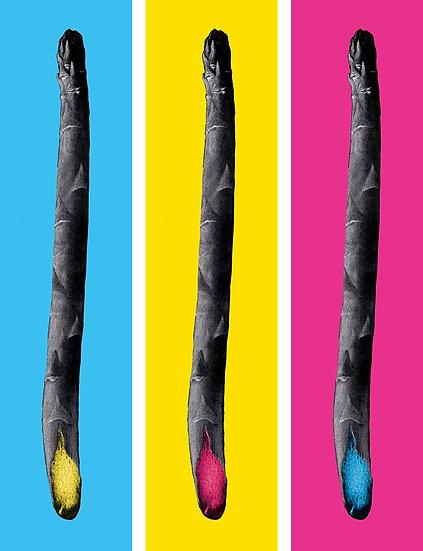 Shocked Asparagus Triptych