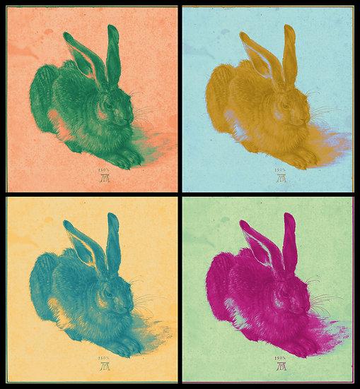 Duerer's Hare Quadrouple