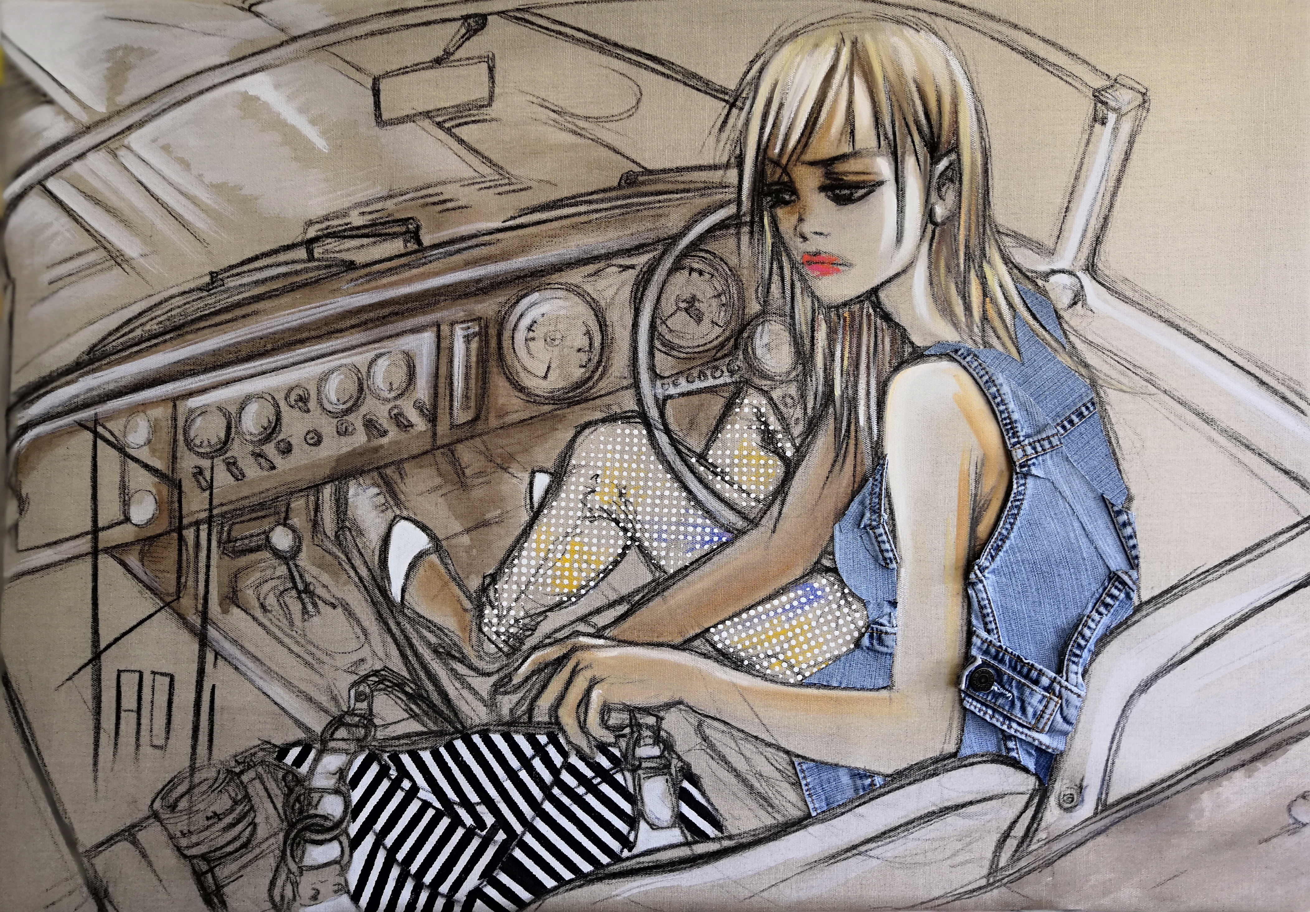 """The girl in a car"""