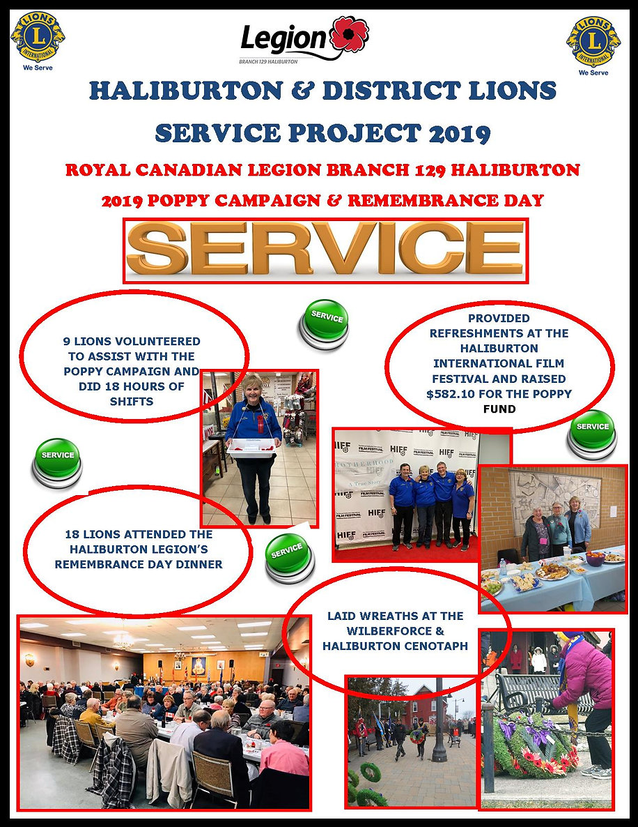 Haliburton Lions Service Project Promo 2