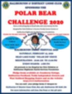 Debbie Polar Bear Challenge Poster 2020.