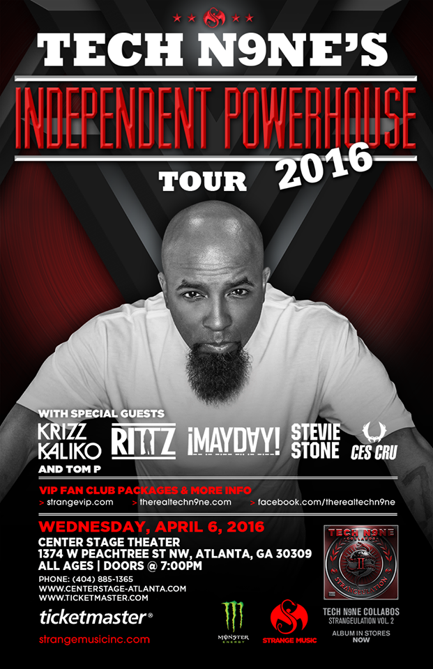 Tom P to open for TECHN9NE and RITTZ at Center Stage in Atlanta
