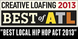 Tom P winner of Creative Loafing Best of Atlanata Best Local Hip Hop Act 2013