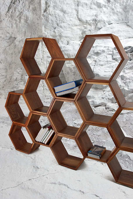 honeycomb book case