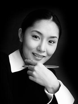 Aziatische Vrouw Writer