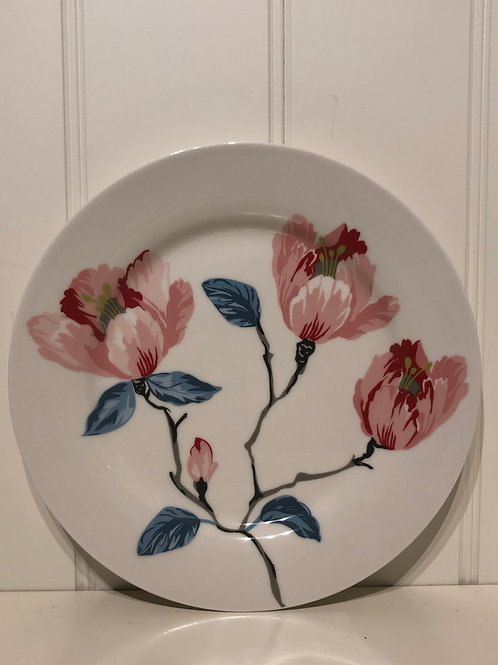 Plate magnolia white