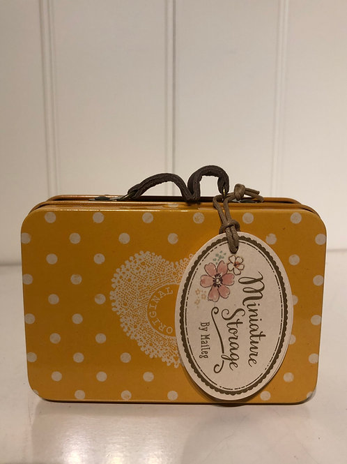 Suitcase yellow dot