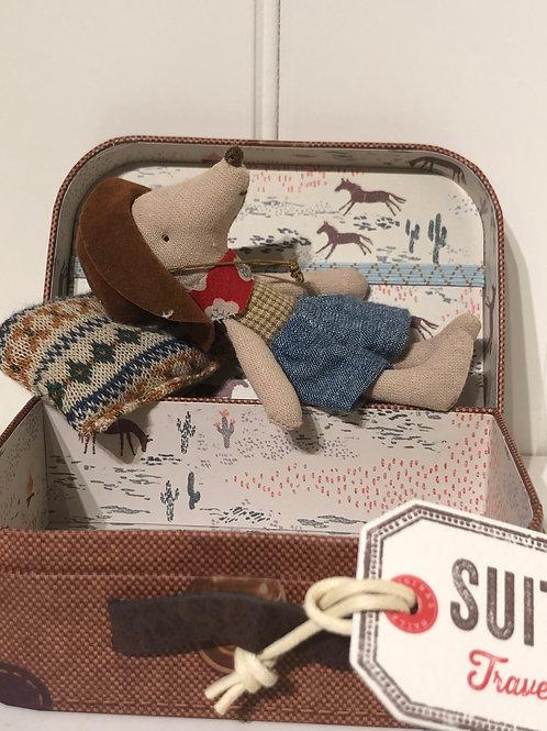 Cowboy mus i kuffert