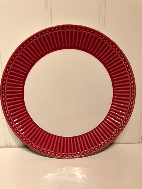 Plate alice red