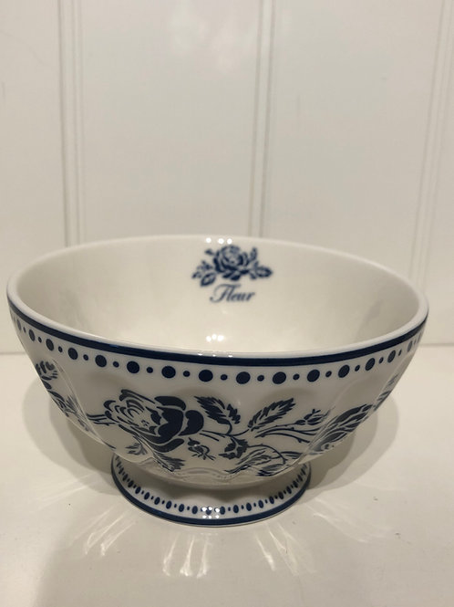 French bowl xl fleur blue