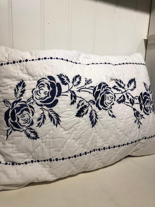 Cushion fleur blue