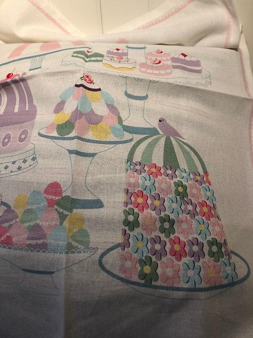 Tea towel tenna white pieceprinted