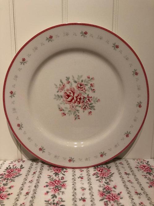 Dinner plate flora white