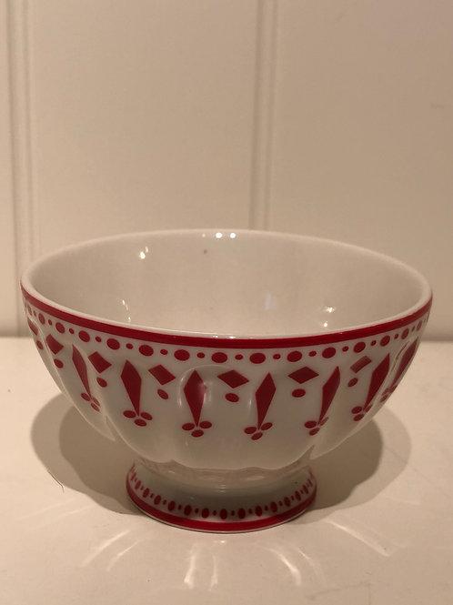 French bowl medium fleur red