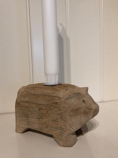 Træ gris