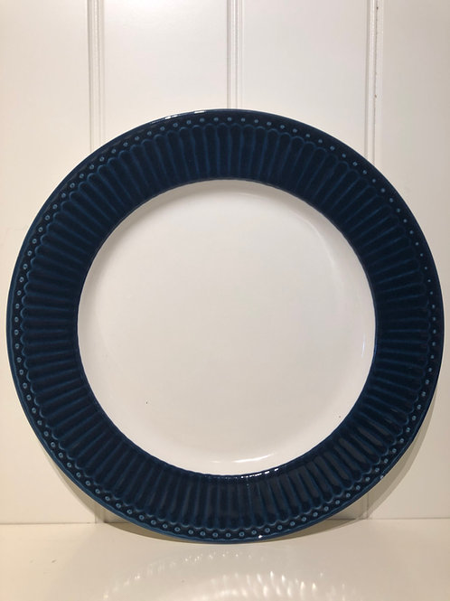 Dinner plate alice dark blue