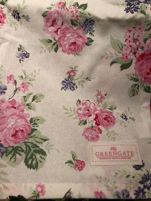 Tablecloth rose white 145 x 250 cm