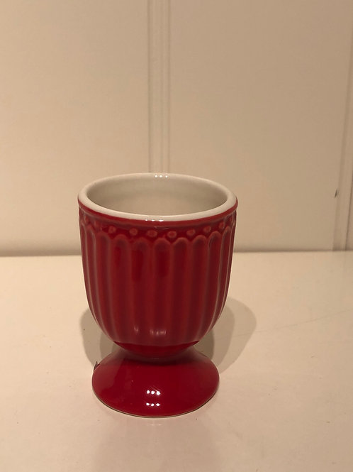Egg cup alice red