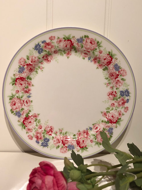 Plate rose white