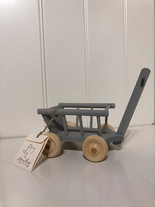 Trækvogn mint/grå