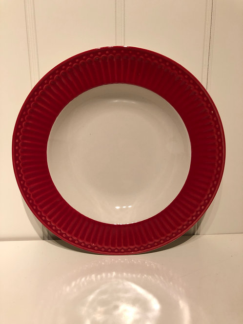 Plate deep alice red