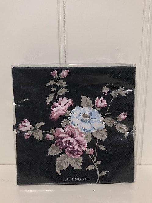 Paper napkin maude dark grey