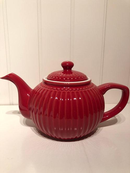 Teapot alice red