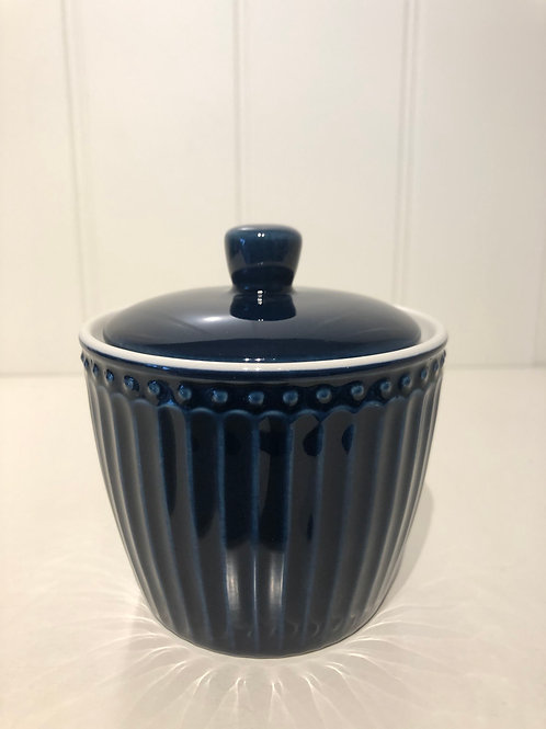 Sugar pot alice dark blue