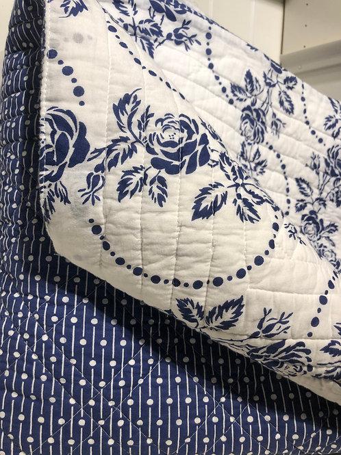 Bedcover fleur blue
