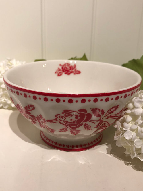 French bowl xl fleur red