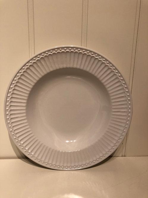 Plate deep alice white
